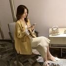 2020年春秋新款上衣女寬松韓版英倫風短款西服chic網紅小西裝外套 小艾新品