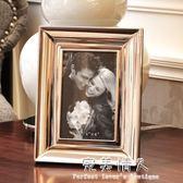 黑白皮質相框 現代簡歐裝飾相框 樣板房鱷魚皮質相框金屬相框擺台 完美情人精品館