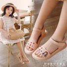 女童涼鞋夏季兒童公主鞋韓版2021新款小女孩軟底中大童學生沙灘鞋 科炫數位