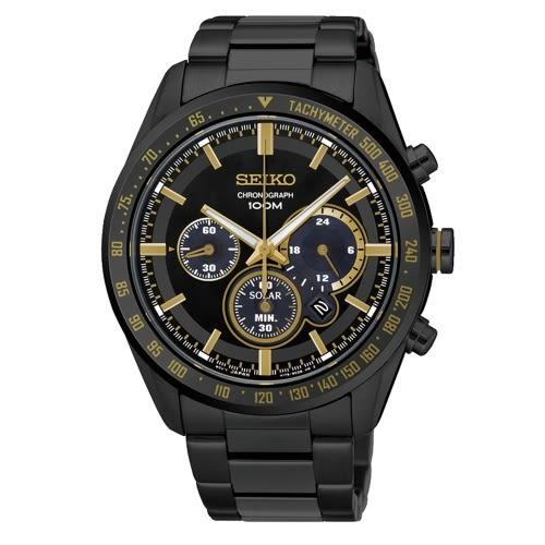SEIKO Criteria時尚率性太陽能計時腕錶/V175-0DL0K/SSC473P1