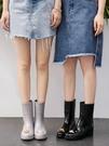 雨鞋女時尚款外穿中筒水鞋韓國水靴可愛防水高跟雨靴加絨膠鞋防滑 快速出貨