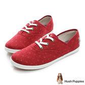 Hush Puppies 吉祥如意咖啡紗帆布鞋-紅色
