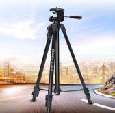 旅行三腳架單反微單相機腳架攝影架便攜三角架手機直播支架wy666款