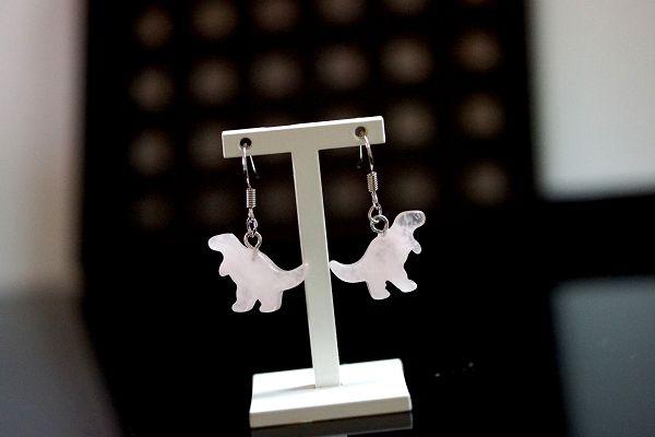【喨喨飾品】可愛侏羅紀恐龍耳環 耳針式 可愛造型 S366