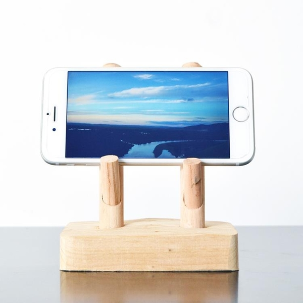 手機支架 居慢生活純手工實木手機支架懶人支撐架子桌面創意小禮品ipad底座