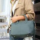 Catsbag韓系女孩質感超厚軟皮革水餃包 手提包 側背包 2370
