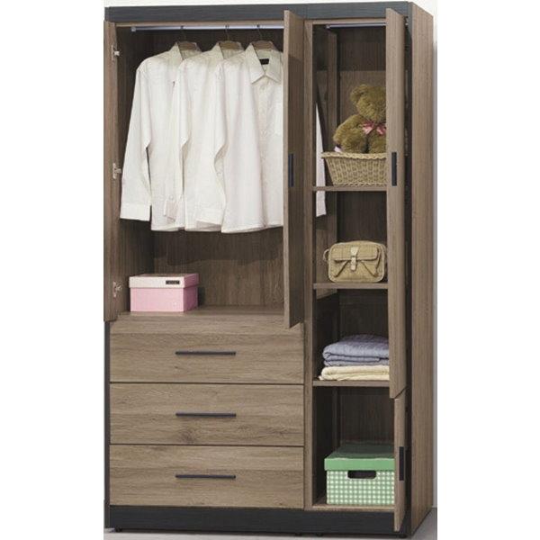 衣櫃 衣櫥 AT-649-2 灰橡4X7尺衣櫃【大眾家居舘】
