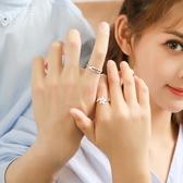 花芽原創設計雪櫻花情侶戒指一對純銀簡約日韓潮人學生開口對戒 草莓妞妞