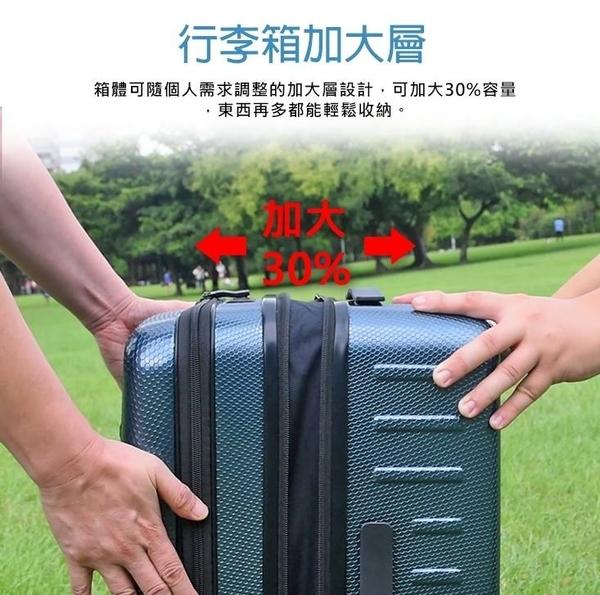 免運 Leadming 24吋 商務兩用旅行箱  前開式擴充行李箱  可加大 拉桿箱  拉鍊式硬殼箱 桔子小妹