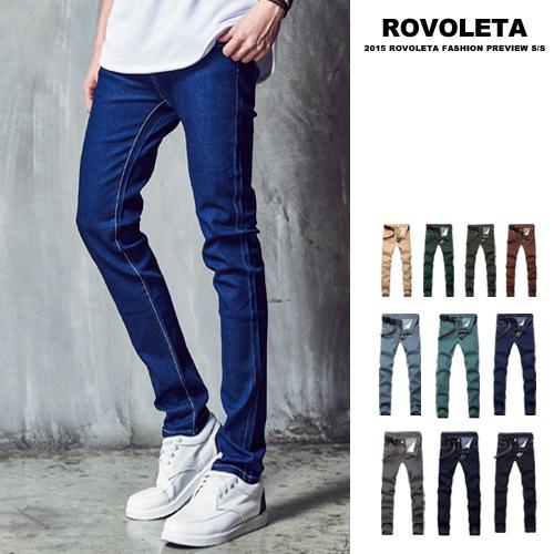 牛仔褲 休閒修身彈性布料/潮流型男立挺多色設計【RO-777】