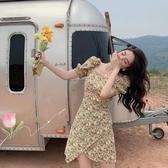 碎花洋裝 可甜可鹽連身裙女夏氣質花裙夏季泡泡袖夏天裙碎花裙子-Ballet朵朵