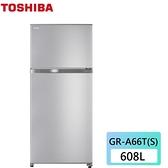 可申請退稅補助【東芝】608L 無邊框設計 -3度c抗菌鮮凍變頻冰箱《GR-A66T(S)》(含拆箱定位)