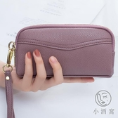 簡約女包雙拉鏈手拿包時尚手包手機包零錢包手抓包【小酒窩服飾】