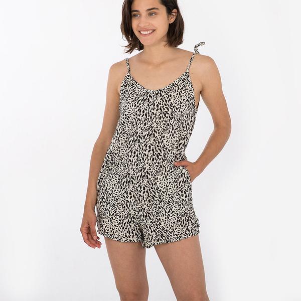 HURLEY|女 HRLY NATURALS TIE STRAP ROMPER 連身褲