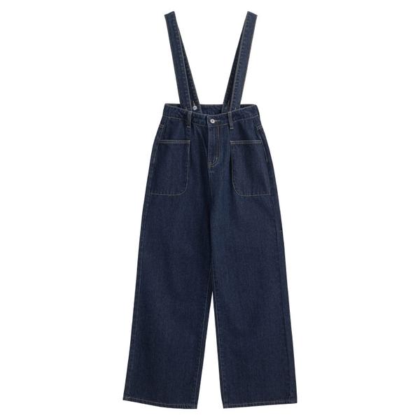 Queen Shop【04050715】雙口袋造型牛仔二穿吊帶褲 S/M/L*現+預*