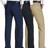 夏裝休閒褲夏季薄款夏款棉男士商務長褲子寬鬆中年爸爸裝上班正裝 超值價