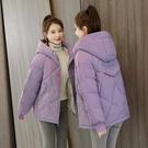 韓版外套羽絨外套 冬季加厚上衣 休閒夾克外套加絨 修身顯瘦棉服女生外套 麵包服棉襖女士外套