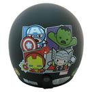 【東門城】EVO 智同 CA-309 復仇者聯盟Q版(消光黑) 兒童半罩式安全帽