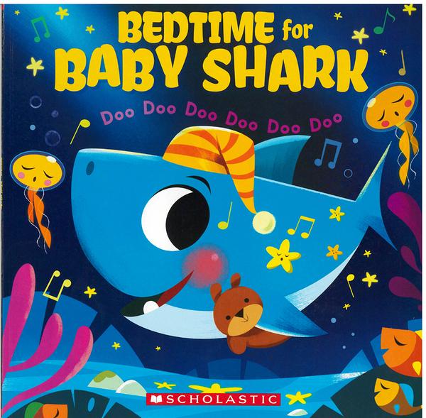 【麥克書店】BEDTIME FOR BABY SHARK /英文繪本《主題:幽默》