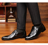 皮鞋男春秋男士商務正裝休閒皮鞋尖頭黑色內增高鏤空皮鞋男鞋青年涼鞋子 愛丫愛丫