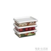 冰箱收納盒 進口塑料米飯盒子可疊加收納韓國冰箱收納盒方便米飯蛋炒飯收納筐 618購物節