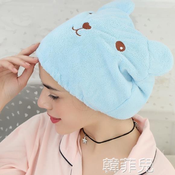 幹髮帽 創意卡通浴帽超強吸水速干包頭巾浴室可愛動物成人加厚擦頭干發帽 新年禮物