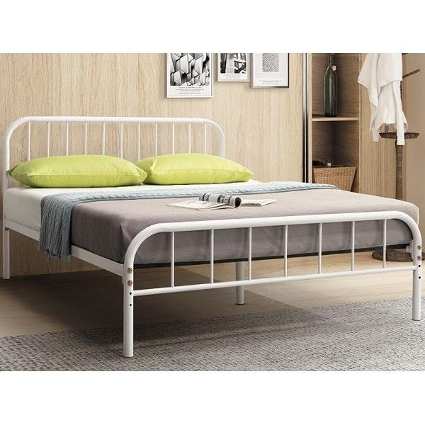 床架 床台 鐵床 TV-179-4 維拉白色3.5尺床台 (不含床墊) 【大眾家居舘】
