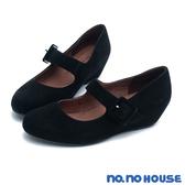 楔型鞋 復古牛皮瑪莉珍內增高楔型鞋(黑)*nono house  【18-8559bk】【現貨】