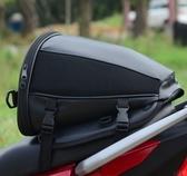 电动摩托车后座尾包侧边骑士头盔机车挂物油箱包防水骑行摩旅装备 叮噹百貨