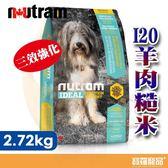 紐頓 I20三效強化犬 羊肉糙米 2.72KG【寶羅寵品】