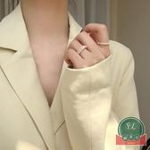 氣質時尚極細疊戴食指戒迷你珍珠戒指女【福喜行】