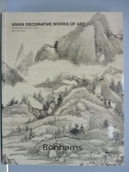 【書寶二手書T5/收藏_PGW】Bonhams_Asian Decorative Works of Art_2018/6