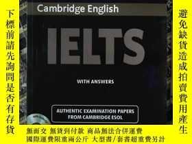 二手書博民逛書店Cambridge罕見English IELTS EXAMINATION PAPERS 4(有光盤)Y2396