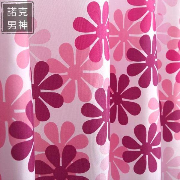 浴簾 桃花朵朵加厚防水防霉加厚環保衛生間浴室隔斷滌綸浴簾送掛鉤 情人節禮物