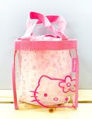 【震撼精品百貨】Hello Kitty_凱蒂貓~Sanrio HELLO KITTY防水收納包/透明手提包-粉#20087