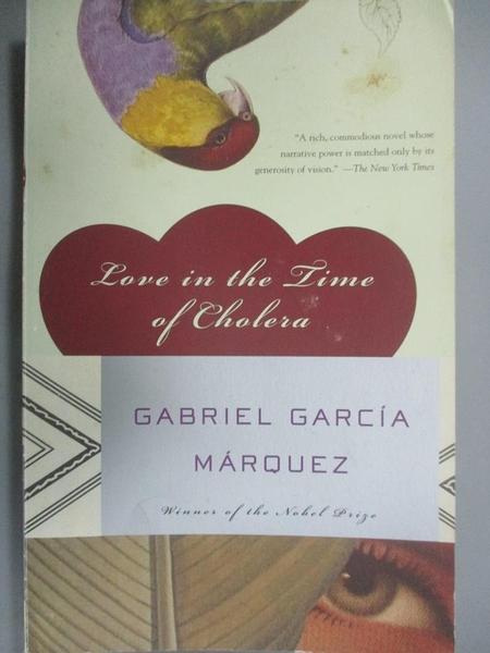 【書寶二手書T2/原文小說_GBO】Love in the Time of Cholera_Garcia Marquez