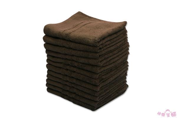 素色毛巾 28兩商用 / 咖啡色 / 美容 美髮 88g 100%純棉 / 台灣專業製造【快樂主婦】