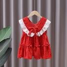 女童洋裝 女童連身裙夏裝2021新款洋氣小女孩雪紡波點公主裙女寶寶夏季裙子