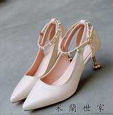 涼鞋高跟鞋細跟貓跟鞋尖頭中跟女鞋
