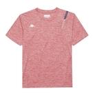 KAPPA義大利 吸濕排汗Kappa4Team圓領衫 正紅麻花 33162QWD18