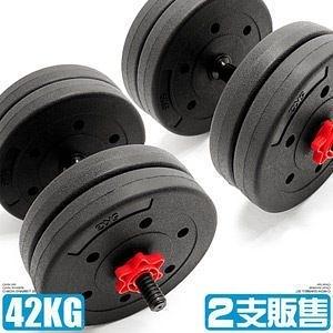 40KG槓鈴組合(2支槓心)40公斤啞鈴20公斤+20KG槓片重力舉重量訓練短桿心運動健身器材專賣店