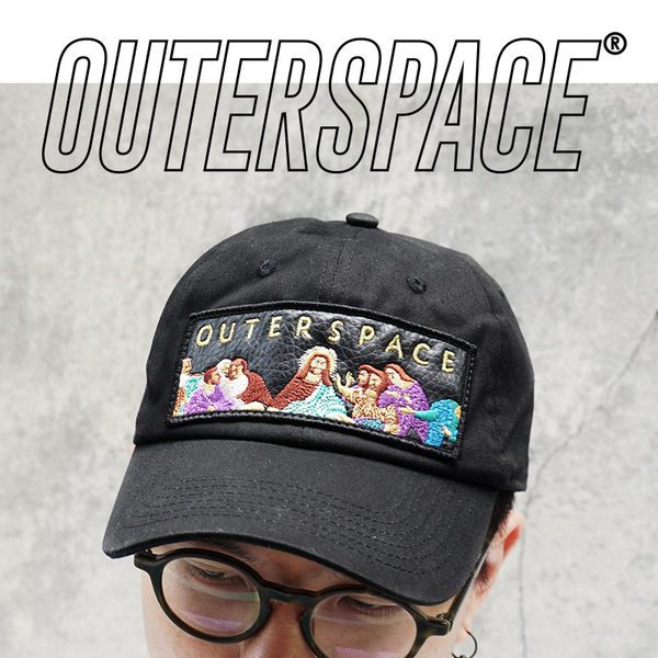 OUTER SPACE 最後晚餐刺繡老帽(黑)