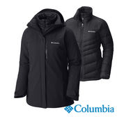 Columbia 女 防水OH羽絨兩件式外套-黑色 【GO WILD】