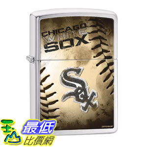 [美國直購] Zippo MLB Chicago White Sox Brushed Chrome Lighter 打火機