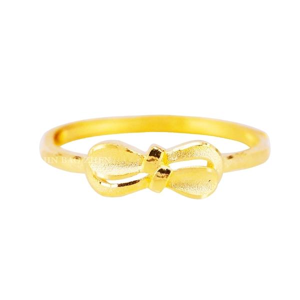 法式甜美-蝴蝶結黃金戒指