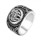 《 QBOX 》FASHION 飾品【RHF994】精緻個性復古維京熊掌符號鑄造鈦鋼開口戒指/戒環