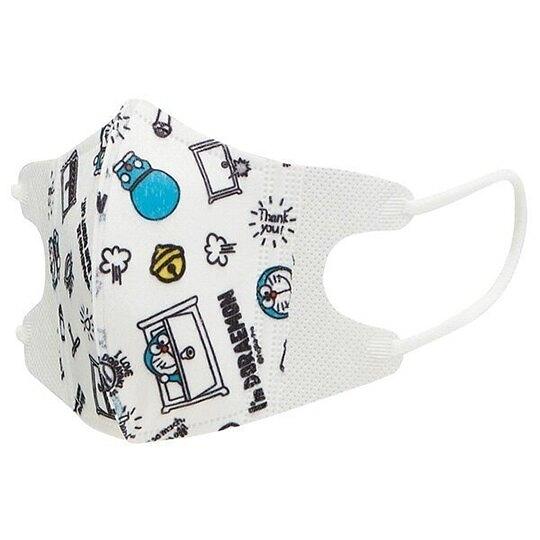 小禮堂 哆啦A夢 兒童不織布口罩組 立體口罩 拋棄式口罩 兒童口罩 (5入 藍 滿版) 4973307-44434