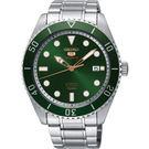 SEIKO 精工經典 盾牌五號潛水型機械錶 4R35-02D0G 綠水鬼