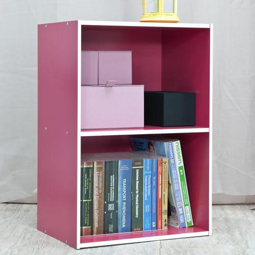 空櫃 收納【收納屋】粉彩兩空櫃-三色可選&DIY組合傢俱