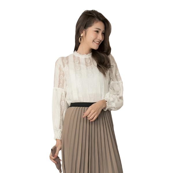 東京著衣【YOCO】浪漫輕肌流蘇蕾絲鏤空透肌感上衣(191445)